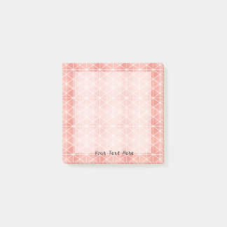 Faux Rose Gold Foil Traingle Pattern Post-it Notes