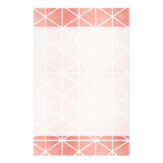 Faux Rose Gold Foil Traingle Pattern Stationery