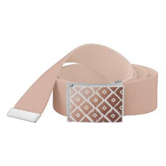 Faux Rose Gold Foil Tribal Pattern Belt