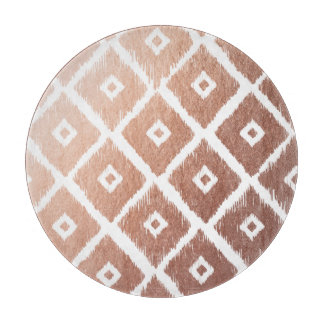 Faux Rose Gold Foil Tribal Pattern Cutting Board