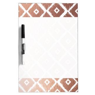 Faux Rose Gold Foil Tribal Pattern Dry Erase Board