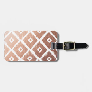Faux Rose Gold Foil Tribal Pattern Luggage Tag