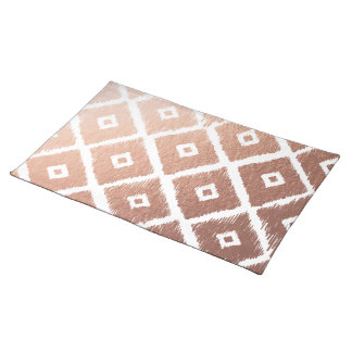 Faux Rose Gold Foil Tribal Pattern Placemat