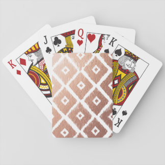 Faux Rose Gold Foil Tribal Pattern Playing Cards