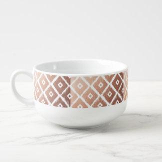 Faux Rose Gold Foil Tribal Pattern Soup Mug