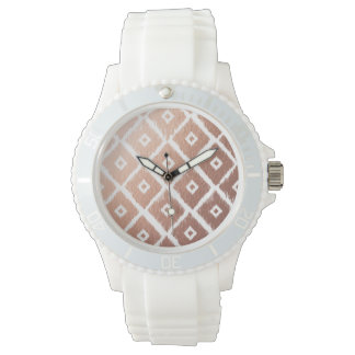 Faux Rose Gold Foil Tribal Pattern Watch
