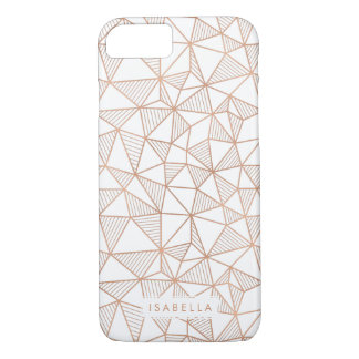 Faux Rose Gold Geometric Triangle Pattern iPhone 8/7 Case