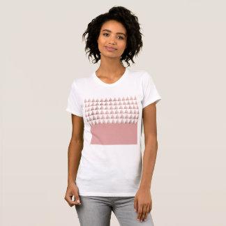 faux rose gold geometric triangles pattern T-Shirt