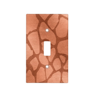 Faux Rose Gold Giraffe Print Light Switch Cover