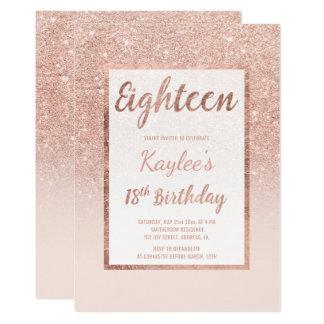 18 birthday invitation