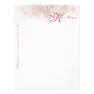 Faux Rose Gold Letterhead