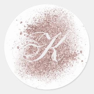 Faux Rose Gold Monogram Sticker