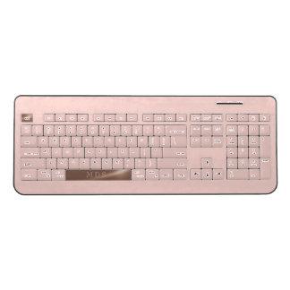 Faux Rose Gold Spacebar Blush Wireless Keyboard