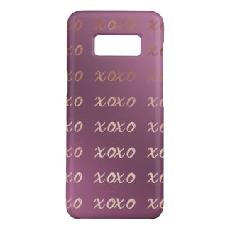 faux rose gold typography hugs and kisses xoxo Case-Mate samsung galaxy s8 case