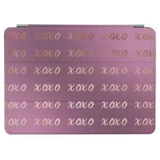 faux rose gold typography hugs and kisses xoxo iPad air cover