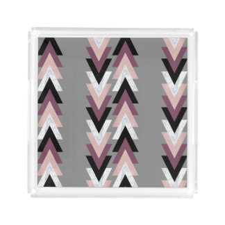 faux rose gold white marble purple black geometric acrylic tray