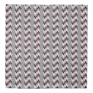 faux rose gold white marble purple black geometric duvet cover