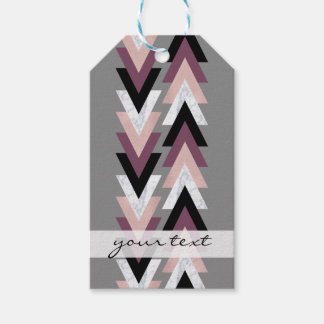 faux rose gold white marble purple black geometric gift tags