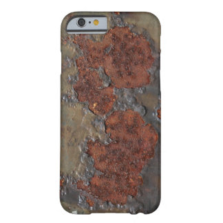 Faux rust texture (brown flaky rusted iron) pitted barely there iPhone 6 case