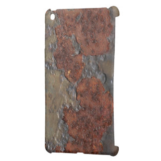 Faux rust texture (brown flaky rusted iron) pitted case for the iPad mini