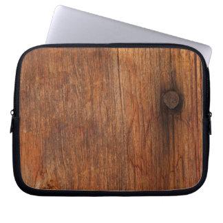Faux Rustic Barn Wood Electronics Bag