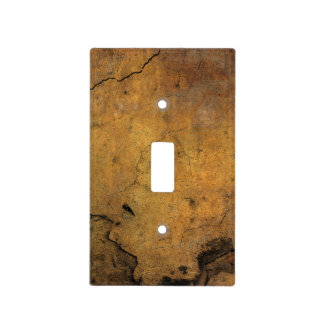 Faux Rusty Cracked Metal Light Switch Cover