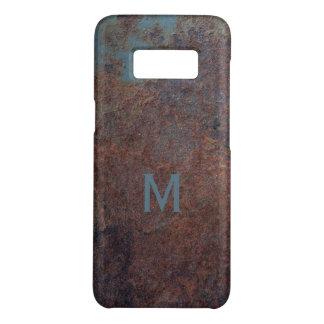Faux Rusty Metal custom monogram phone cases