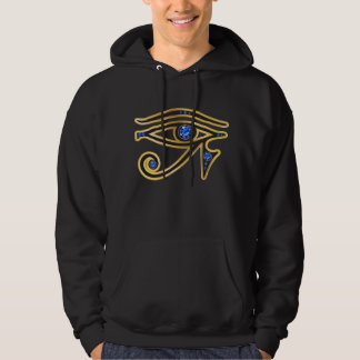 Faux-Sapphire Eye of Ra Mens Hooded Sweatshirt