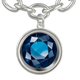 """Faux-""""Sapphire"""" Stone Bracelet"""