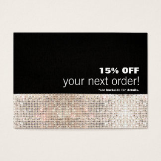 Faux Sequins Hair Salon and Spa Discount Coupon Business Card