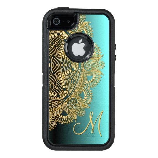 Faux Shiny Gold Trendy Oriental Mandala Pattern OtterBox iPhone 5/5s/SE Case