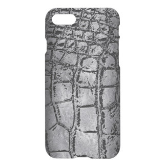 Faux silver and black Crocodile /Snake Skin iPhone 8/7 Case