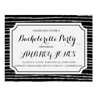 Faux Silver Foil Bling Bachelorette Party Postcard