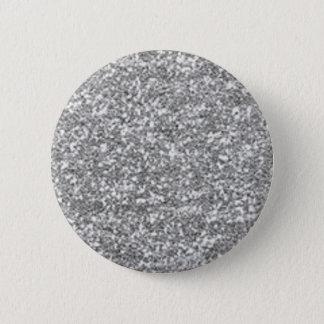 Faux Silver Glitter 2 Inch Round Button