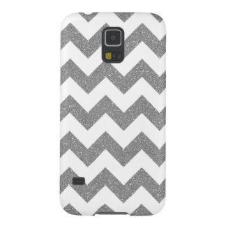 Faux Silver Glitter Chevron Samsung Galaxy S5 Case