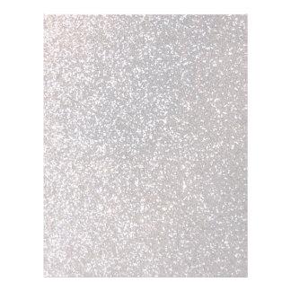 Faux Silver glitter graphic Letterhead