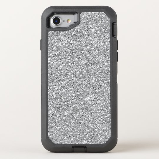 Faux silver glitter iPhone 7 defender OtterBox Defender iPhone 7 Case