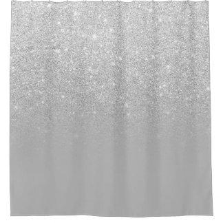 Faux silver glitter ombre grey color block