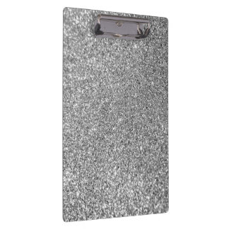 Faux Silver Glitter Photo Clipboards