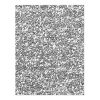 Faux Silver Glitter Postcard