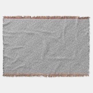 Faux Silver Glitter Throw Blanket