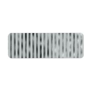 Faux Silver Gray Metallic Vertical Narrow Grey