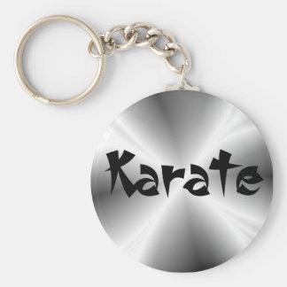 Faux Silver Karate Keychain