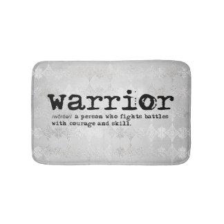 Faux Silver Metallic Warrior Definition Bath Mat