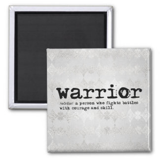 Faux Silver Metallic Warrior Definition Magnet