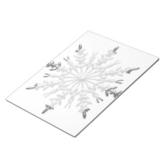 Faux Silver Metallic Winter Snowflakes Notepads