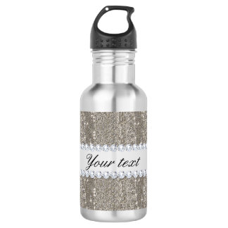 Faux Silver Sequins and Diamonds