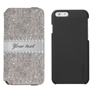 Faux Silver Sequins and Diamonds Incipio Watson™ iPhone 6 Wallet Case