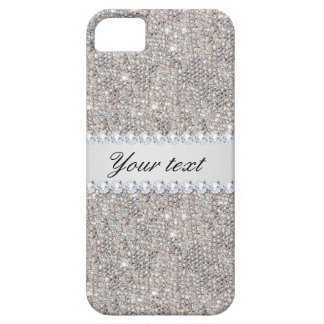 Faux Silver Sequins and Diamonds iPhone 5 Covers