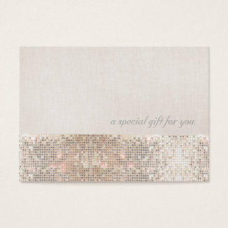 Faux Silver Sequins Beauty Gift Certificate